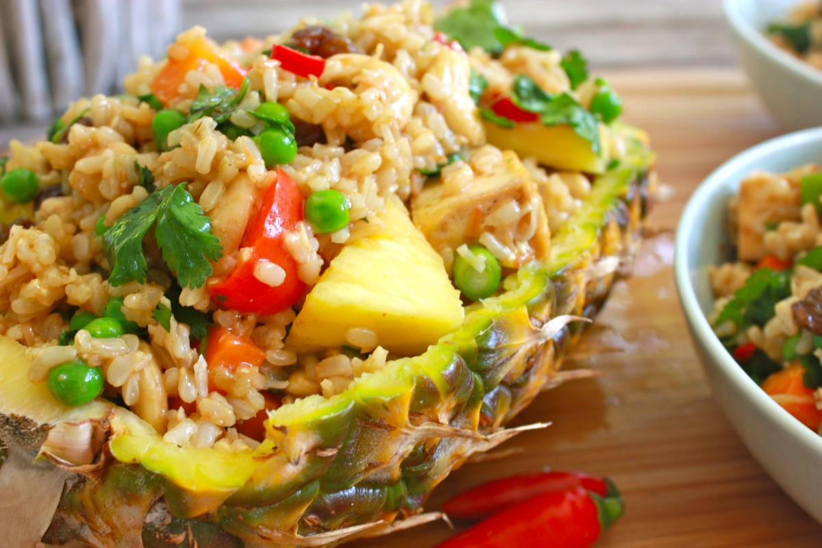 Thai Pineapple Fried Brown Rice | Whole Vegan Pantry